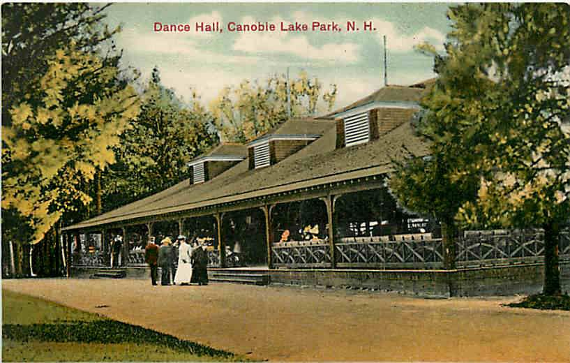 Hampshire NH 1908 Canobie Lake Park Dance Hall Vintage Postcard