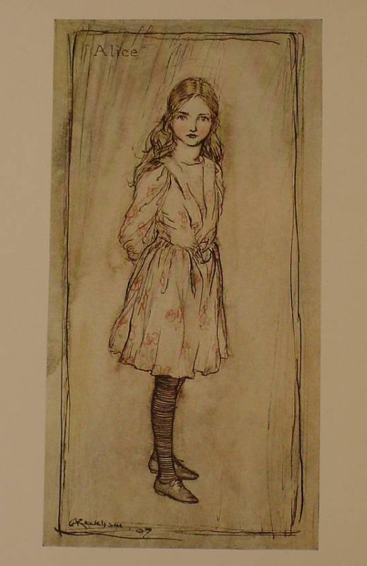 1907 Alice in Wonderland Antique Arthur Rackham Alices Adventures Vtg