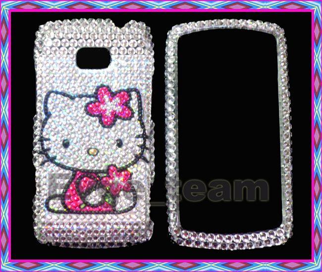 Hello Kitty Bling Hard Case Cover for LG Ally VS740 SV