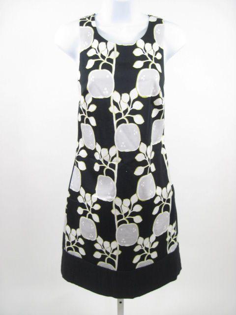 Lisa HO Black Apple Print Sleeveless Dress Sz 2