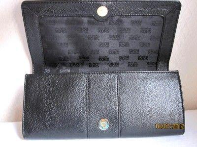 Michael Michael Kors Black Sutton Genuine Leather Clutch Purse