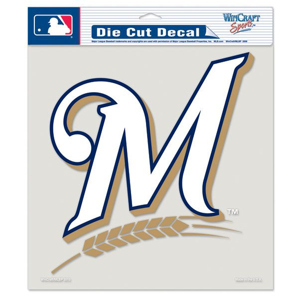 Milwaukee Brewers 8x8 Die Cut Decal