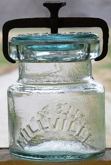 Millville Atmospheric Cut Down Mold Half Pint Fruit Jar