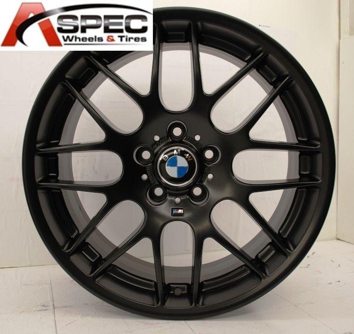 18 WHEELS + TIRES PACKAGES CSL STYLE BLACK RIM FIT BMW Z3 Z4 318 323