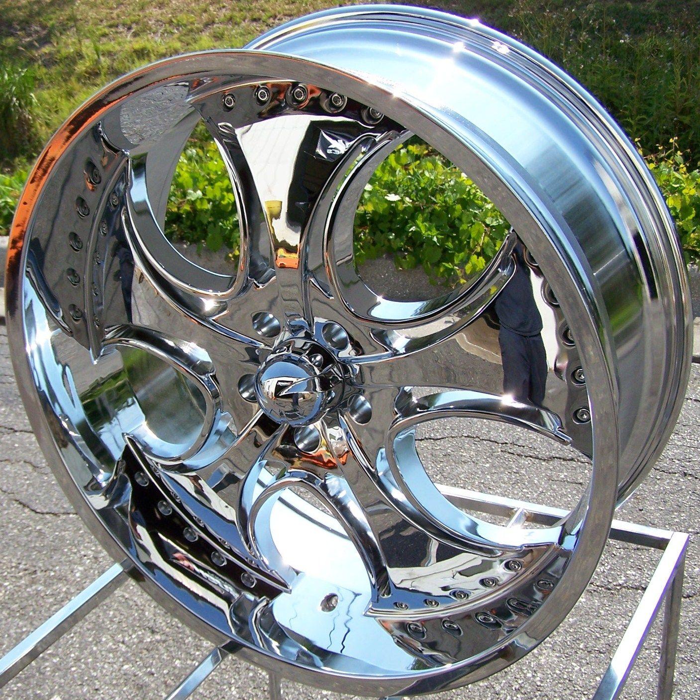 24x9 5 Chrome KMC Venom Wheels Rims Ford F150 Expedition Navigator