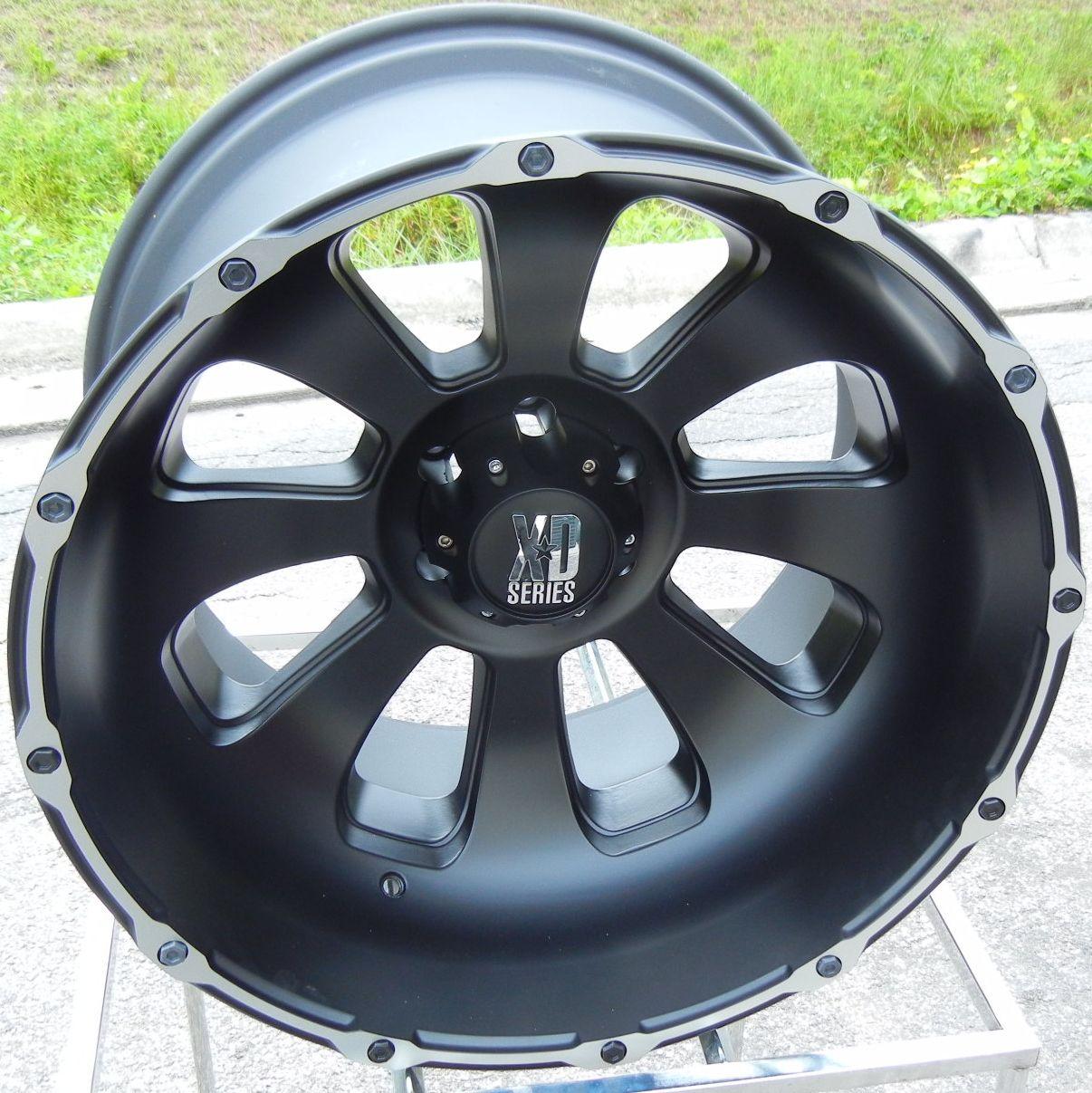 22x14 Black KMC XD Armour Wheels Rims Chevy GMC 1500 6x5 5 Nissan
