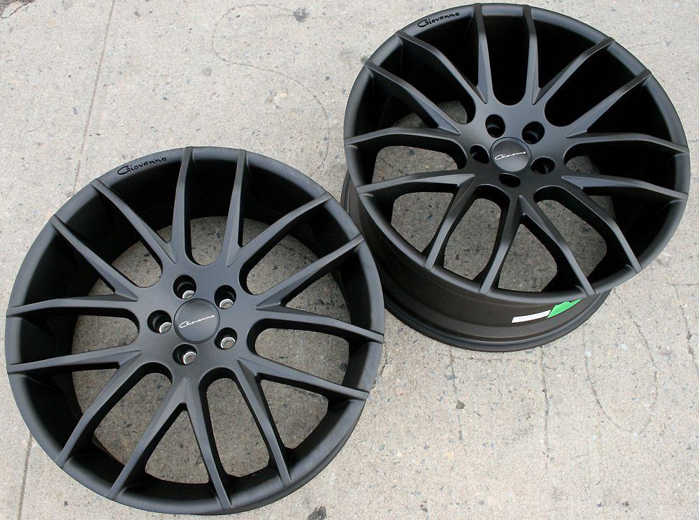 Giovanna Kilis 22 Matte Black Rims Wheels S600 AMG Stag 22 x 9 0 10 5
