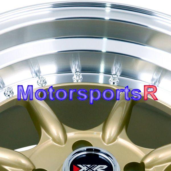 16 16x8 XXR 002 Gold Rims Wheels Stance Deep Dish 89 90 91 Mazda RX7 5