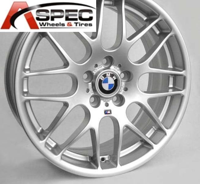 19 Wheels Tires Packages CSL Style Silver Rim Fit BMW E46 E90 M3 325