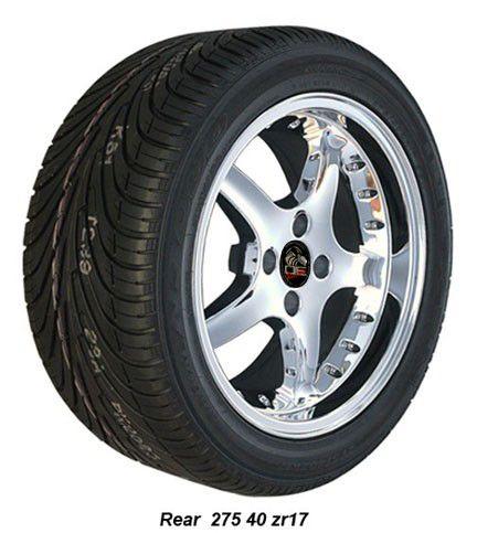 Chrome Cobra R Wheels Nexen Tires Rims Fit Mustang® 79 93