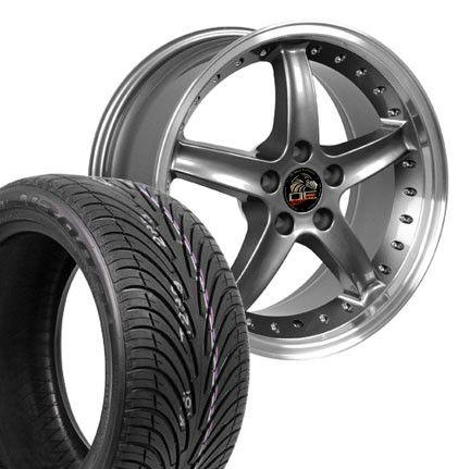 Gunmetal Cobra R Wheels Nexen Tires Rims Fit Mustang® 94 04