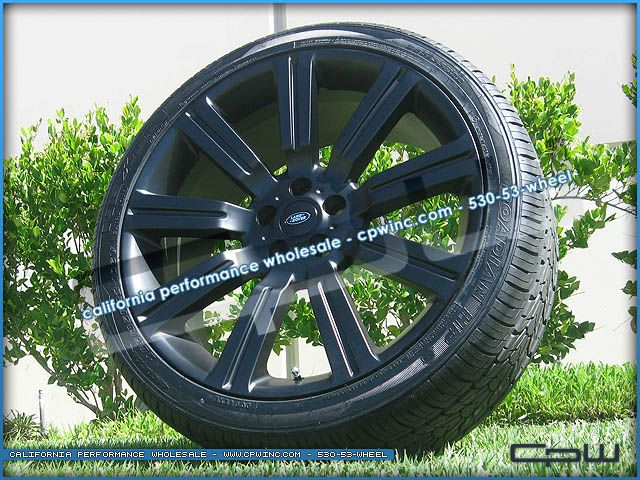 Stormer 22 inch Matte Black Rims Wheels and Tires Package Range Rover