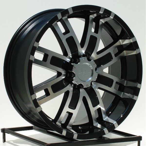 22 inch Black Wheels Rims Chevy GMC 6 Lug Truck Helo