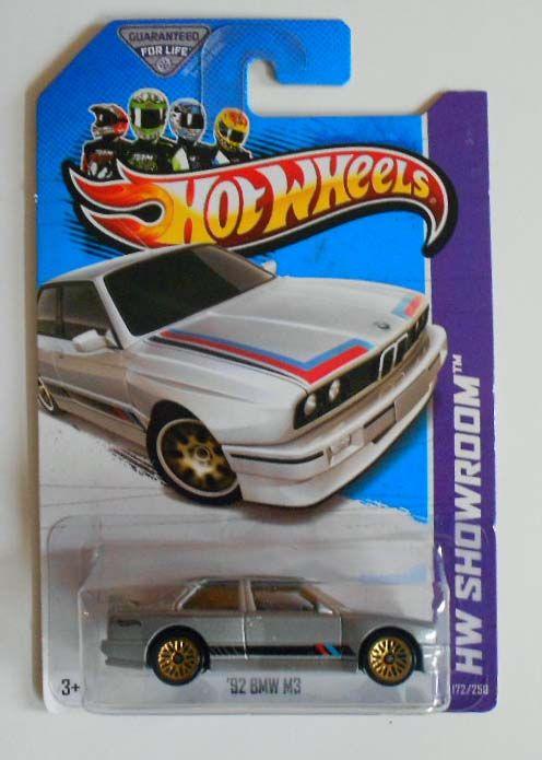 Hot Wheels 2013 172 HW Showroom 92 BMW M3 Grey w GWSPs Mint on Card