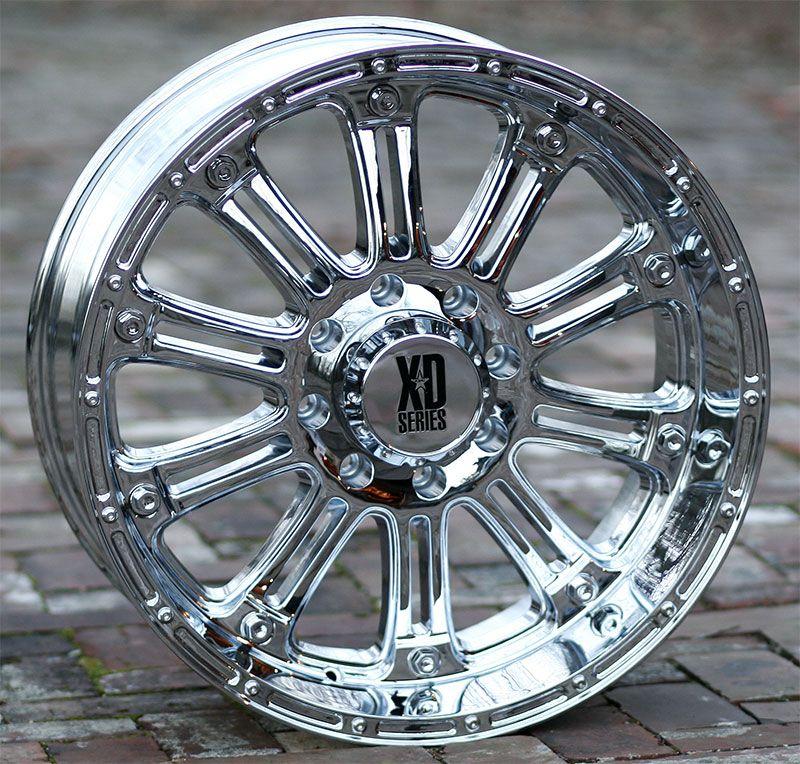 18 inch Chrome Wheels Rims XD 795 Ford F250 350 Superduty 8 Lug Trucks
