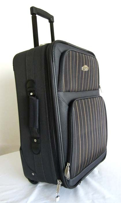 Piece Luggage Set Travel Bag Rolling Wheel Upright Expandable Gray