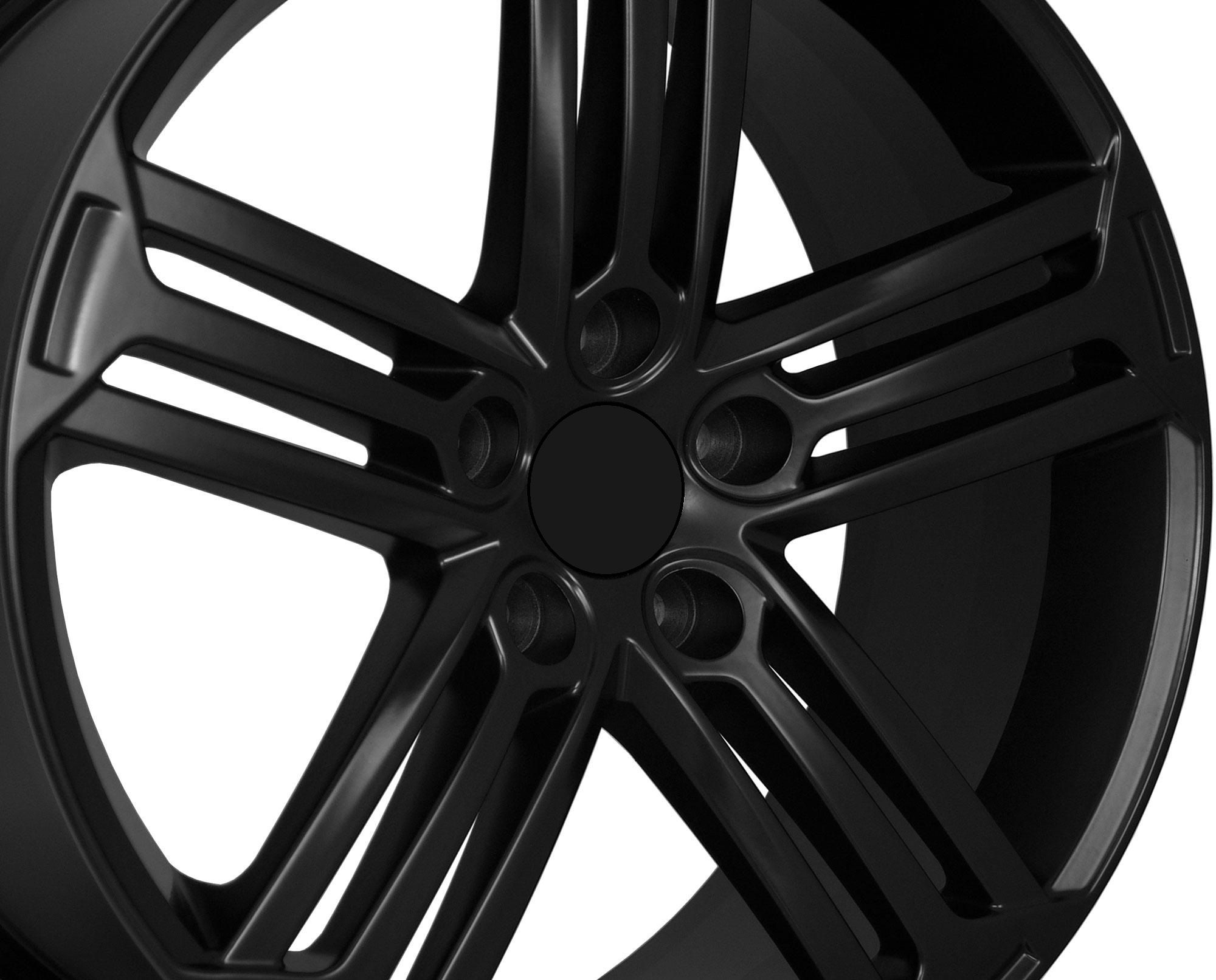 18 VW Golf R Style Matte Black Wheels Rims Fit VW Golf Rabbit GTI MKV