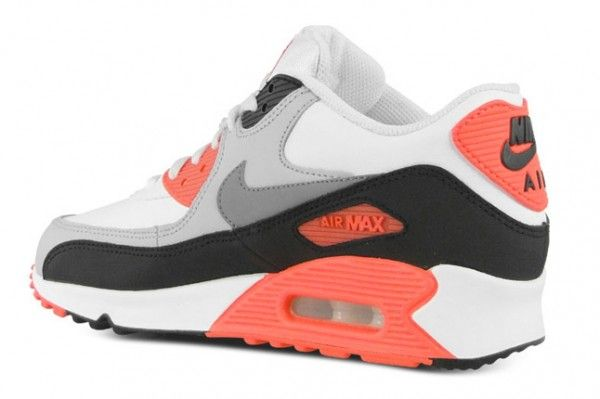 NIKE AIR MAX 90 GS INFRARED WEISS GRAU OG BOX NEU LEOPARD PATTA GR.38