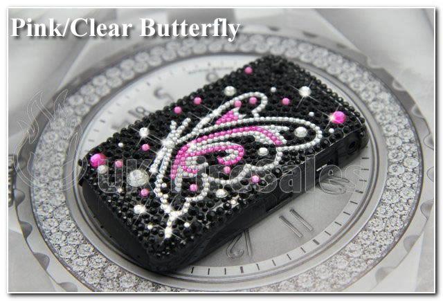 BLACKBERRY BOLD 9700 9780 PINK PURPLE DIAMOND CRYSTAL CASE BLING