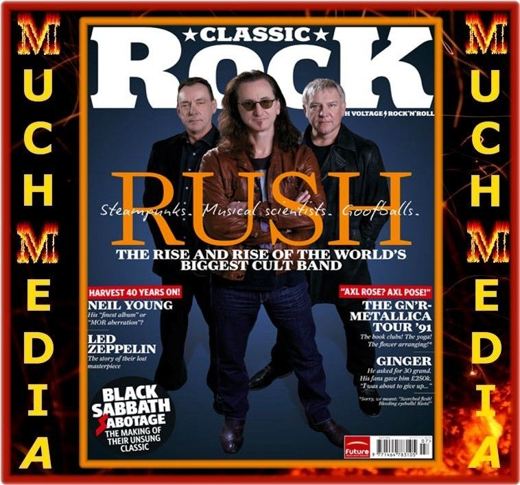 CLASSIC ROCK MAGAZINE 172 JULY 2012 Rush + Black Sabbath + Metallica