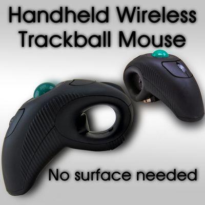 Finger Hand Held Wireless Mouse Maus USB Trackball Laser Pointer