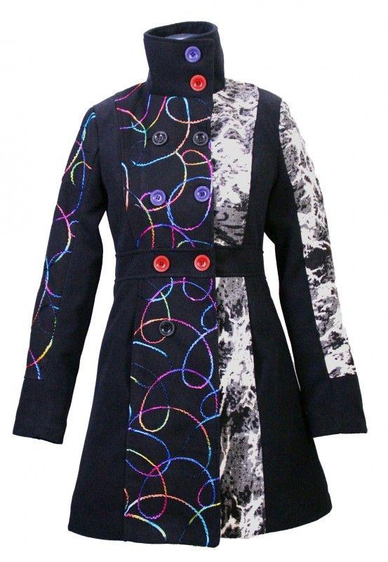 Damen Jacke Luxus Trenchcoat Winter Mantel Wintermantel DW9IEHY2
