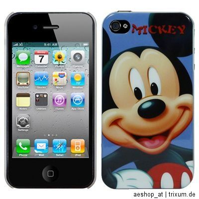 Mickey Mouse Apple iPhone 4 / 4S Hard Case Cover Hülle Tasche