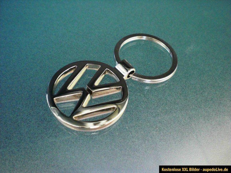 Edler VW Golf Passat T4 T5 Polo Eos Schlüsselanhänger Metall 34mm