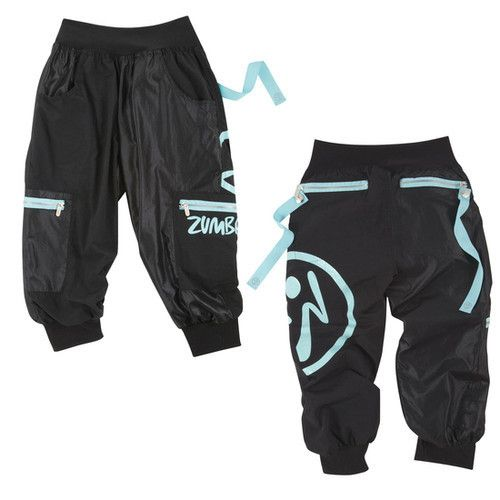 Zumba Wonder Cargo Capri Pants Black Size X Large   New With Tag