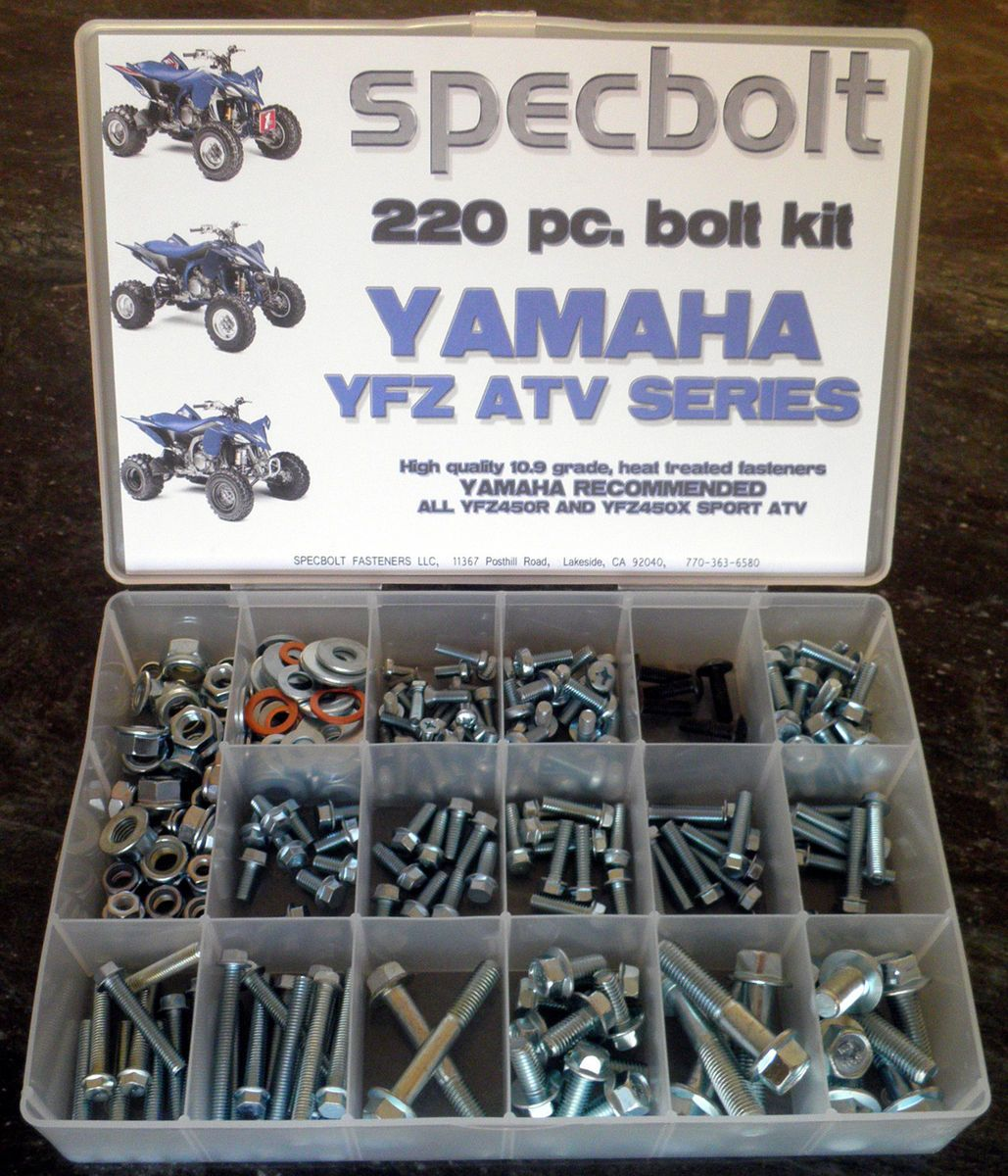 Yamaha YFZ 450 ATV Bolt Kit YFZ450 Quad SPECBOLT fasteners plastic body engine